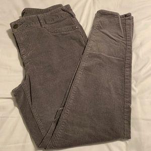 Maurices gray skinny corduroy pants. Size 16